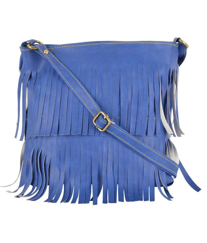 Mriga Retail Blue P.U. Sling Bag