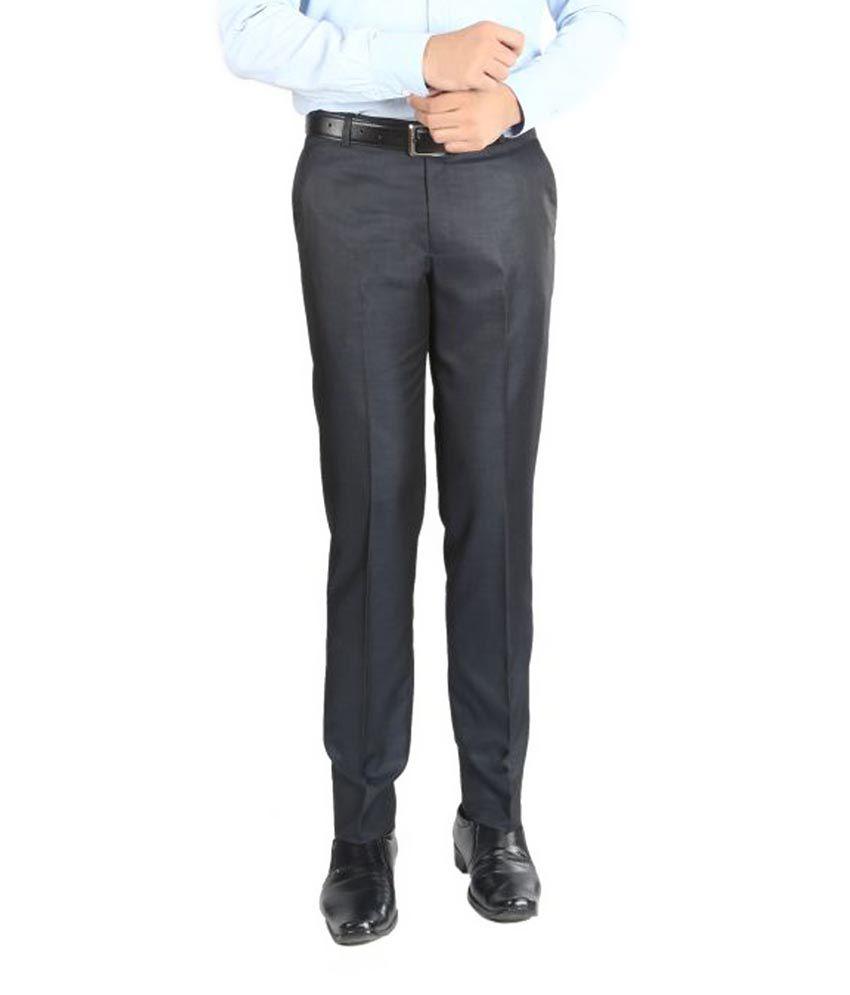 Numerics Black Slim Pleated Trouser