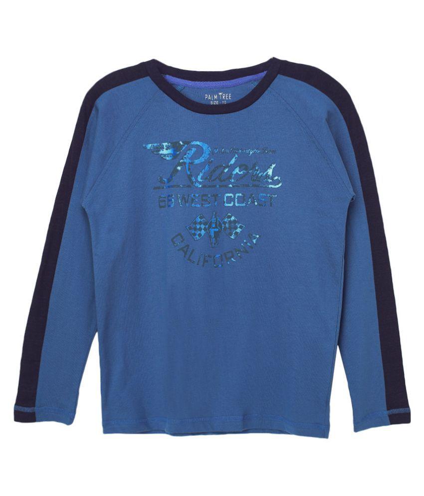 Gini & Jony Blue Printed T-Shirt