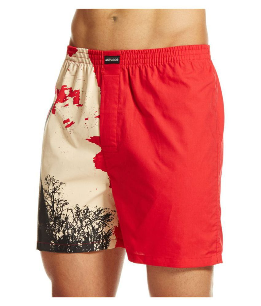 Crusoe Red Shorts