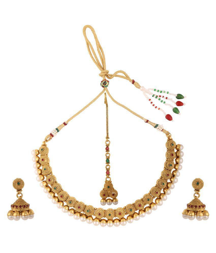 Adiva Alloy Necklace Set