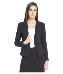 Globus Black Polyester Blend Blazers