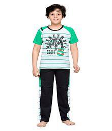 Punkster Multicolour Cotton Night wear Set For Boys