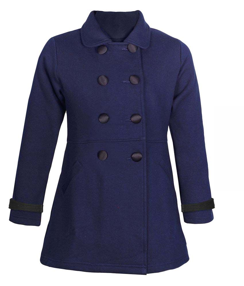 Naughty Ninos Girls Navy Front Open Jackets