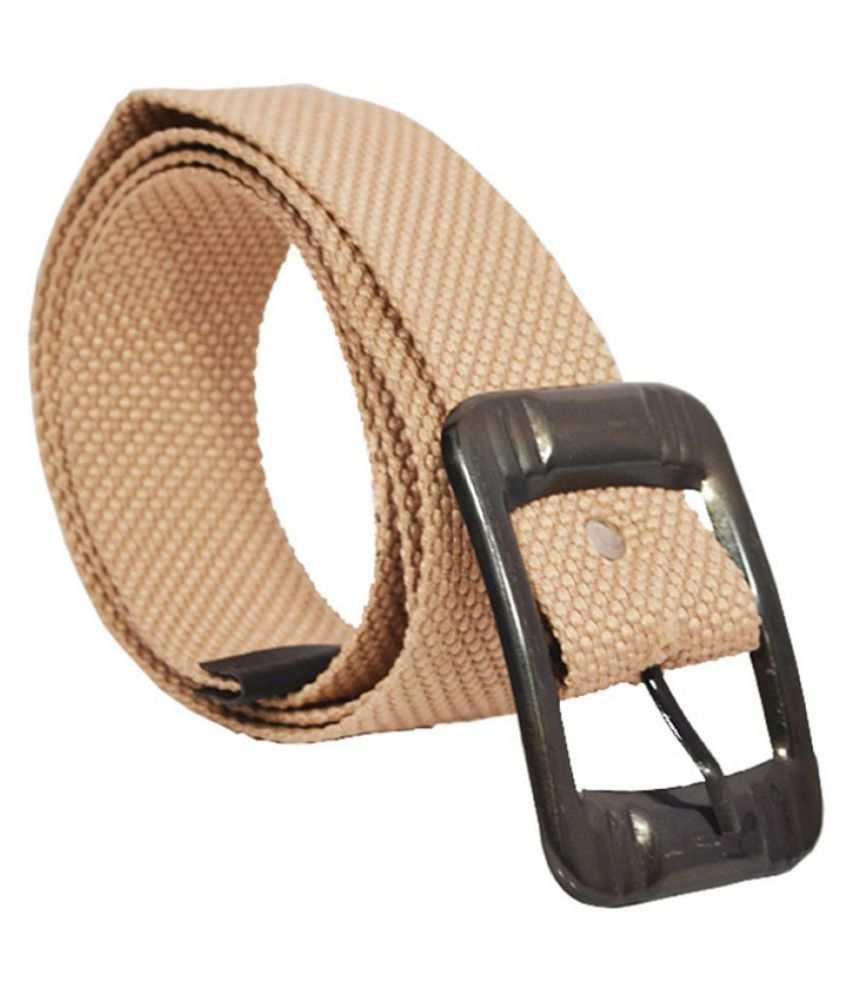Elligator Brown Canvas Casual Belts