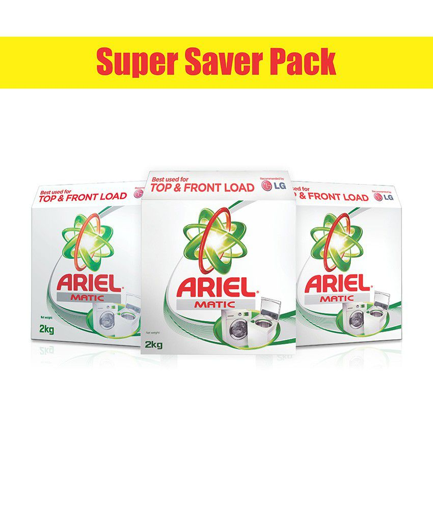 Ariel Matic Washing Detergent Powder Top & Front Load 2 kg- (Pack of 3)