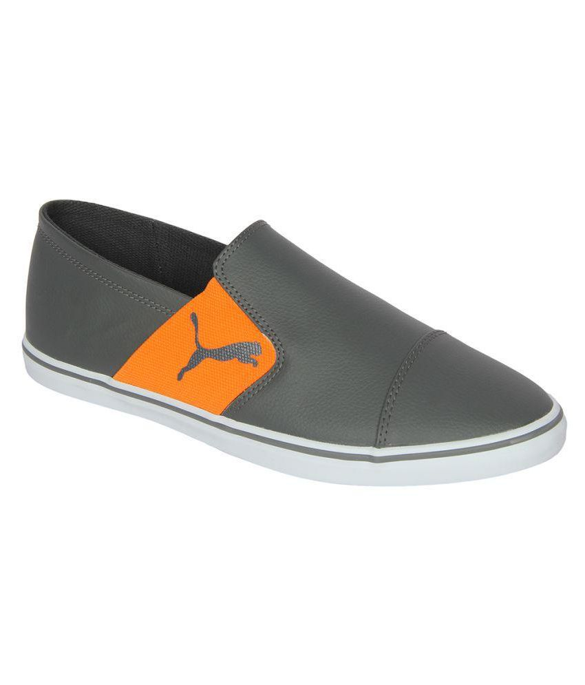Puma MEN SHOES Elsu v2 Slip On SL IDP Sneakers Gray Casual Shoes - Buy Puma  MEN SHOES Elsu v2 Slip On SL IDP Sneakers Gray Casual Shoes Online at Best  ... 4cd6f3fae