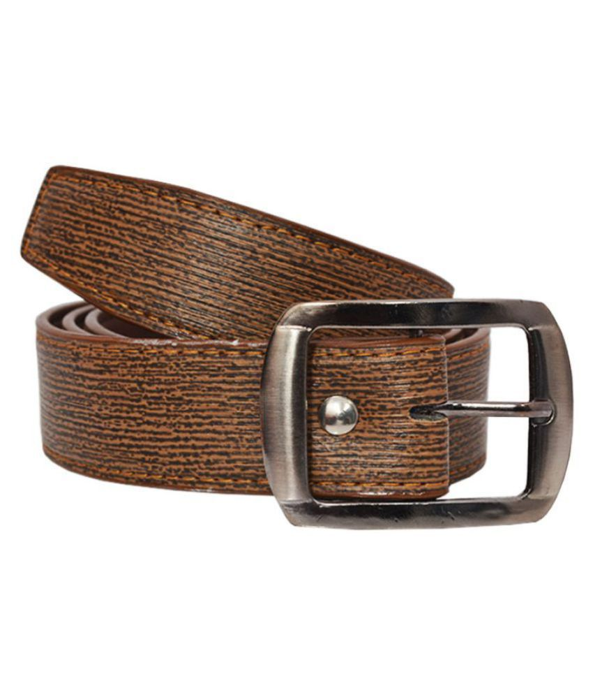 Elligator Tan PU Casual Belts