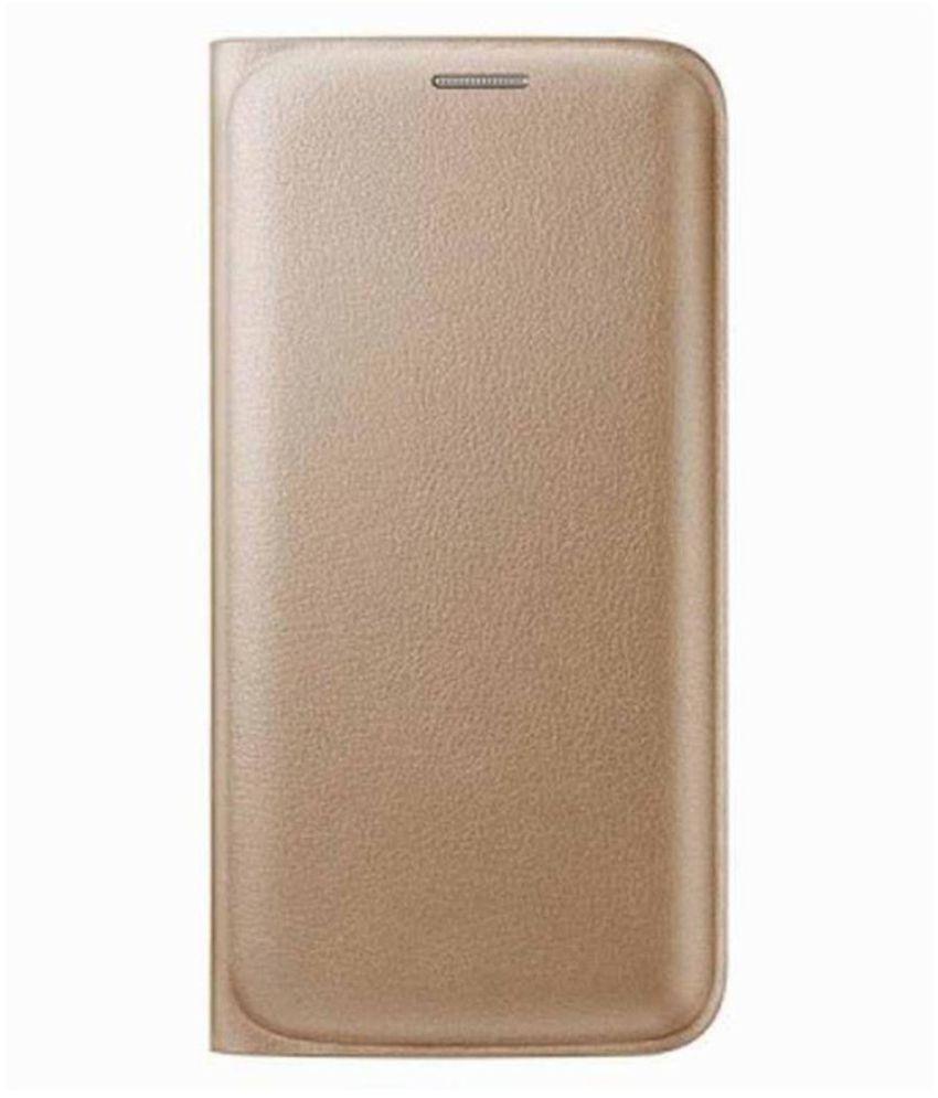 Samsung Galaxy J5 (2016) Flip Cover by Trap - Golden