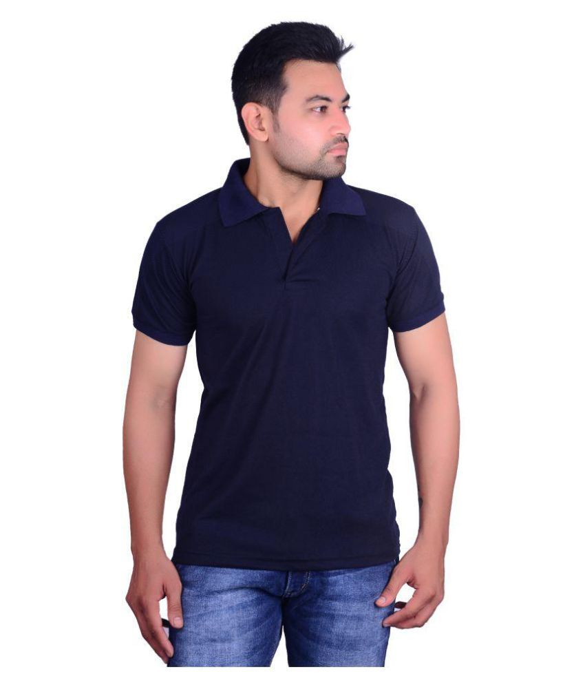 Aragon Navy Cotton Blend Polo T-Shirt Single Pack