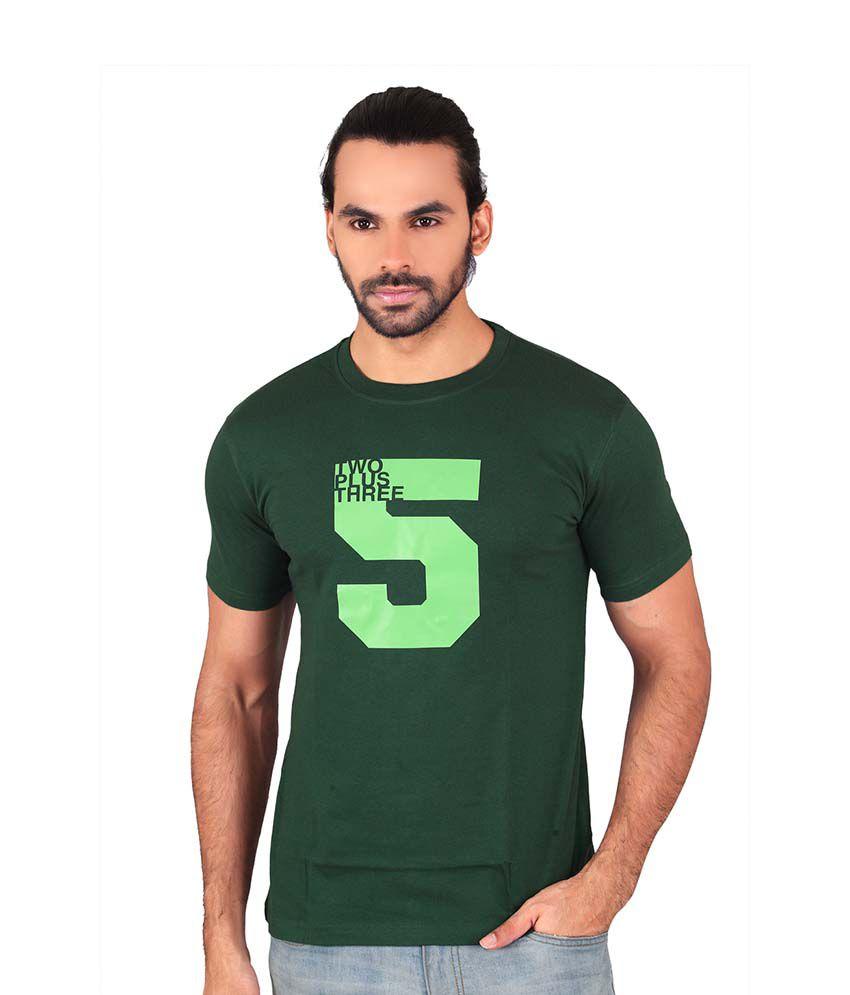 Shaildha Green Round T-Shirt