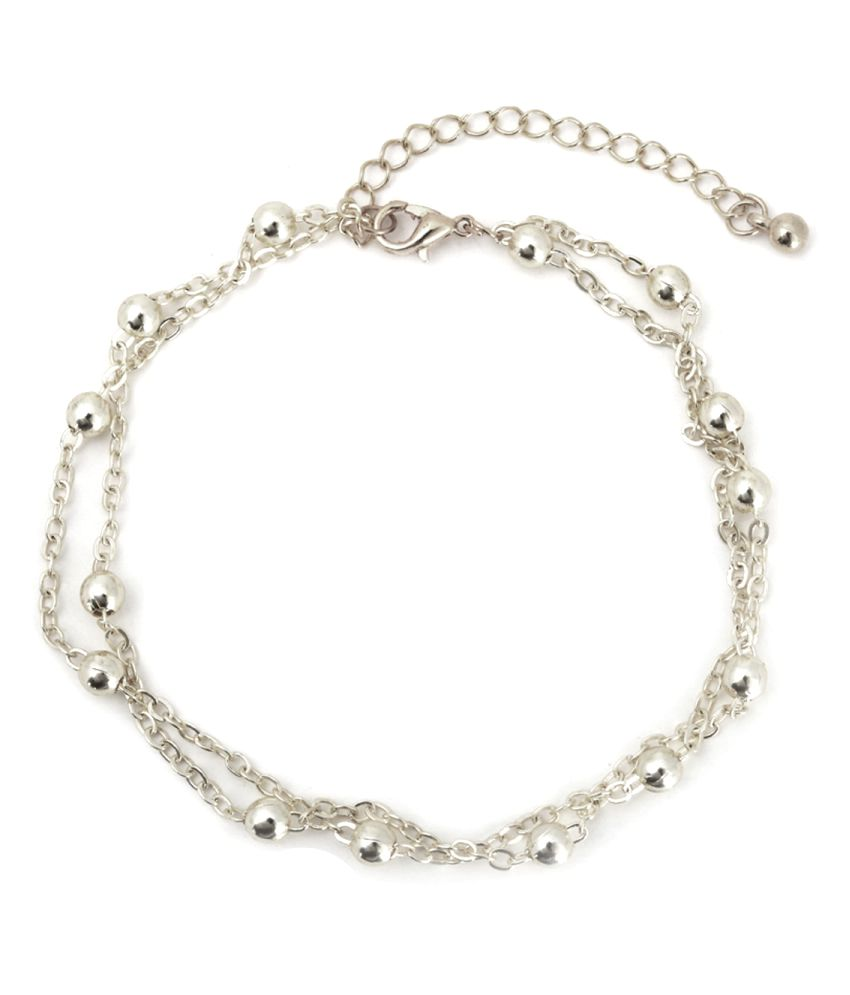 Aaishwarya Silver Alloy Anklet