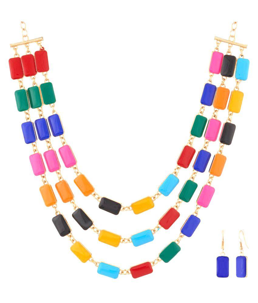 Jazz Jewellery Multicolour Alloy Neckalce Set