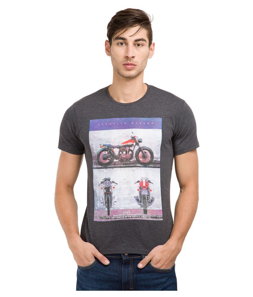Locomotive Grey Round T-Shirt