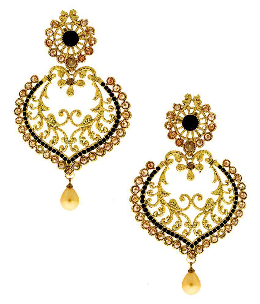 Anuradha Art Golden Chandeliers