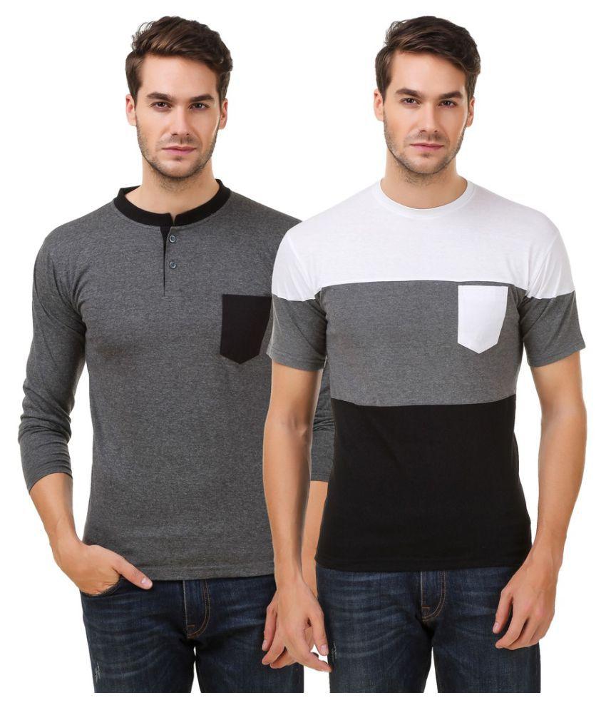 Hue Zephyr Multi Henley T-Shirt Pack of 2
