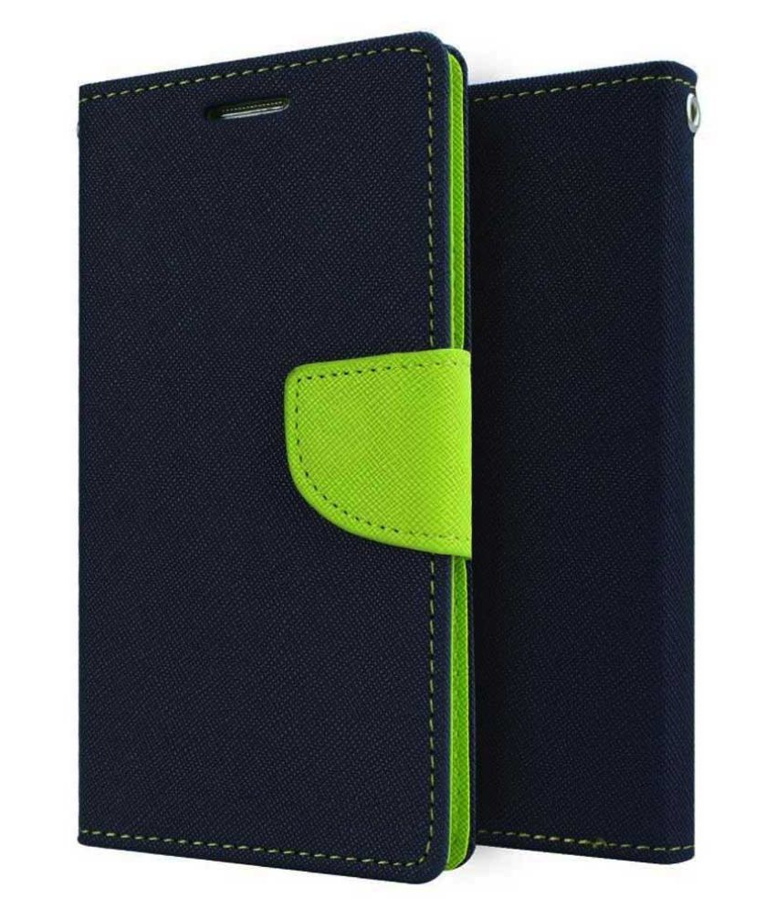 Micromax Bolt A069 Flip Cover by dr2s Fashion Retail - Blue