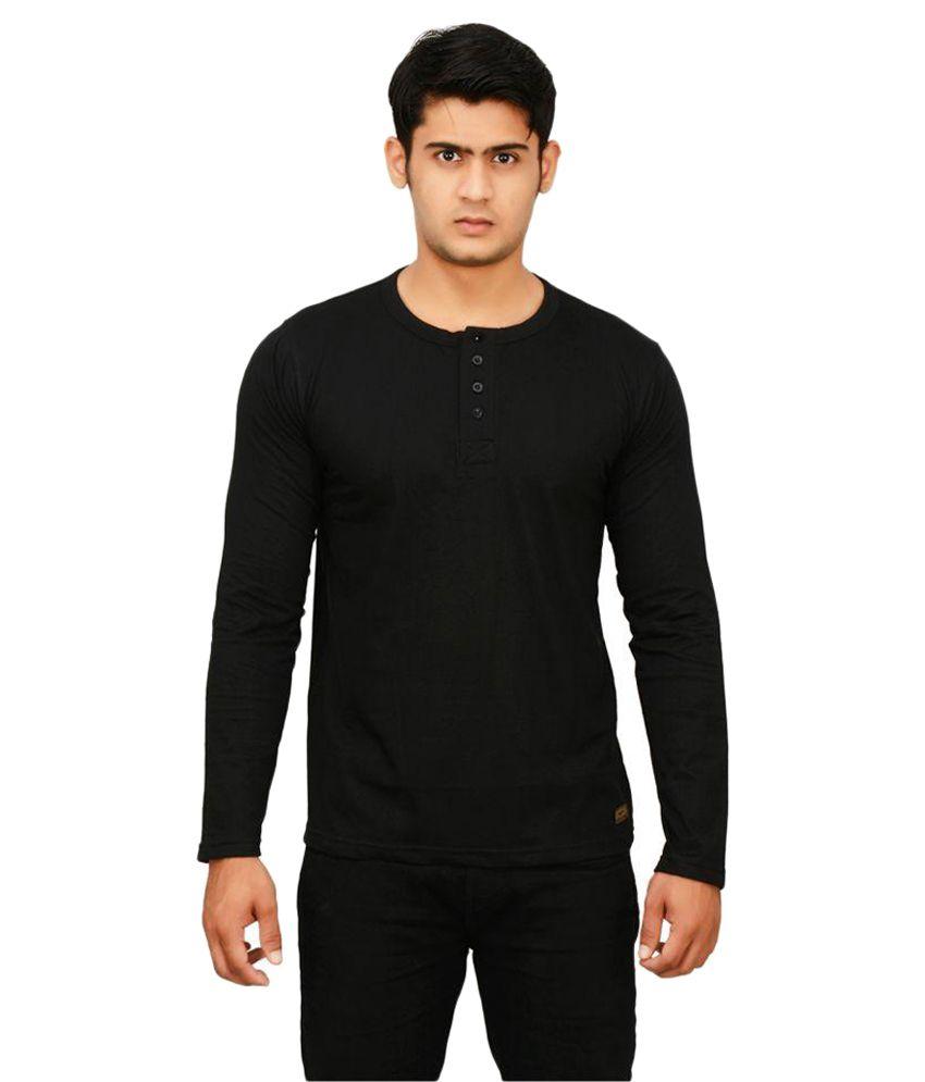 street hawks Black Henley T-Shirt