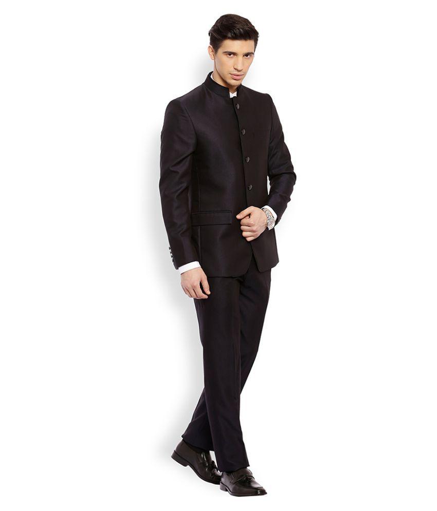 Raymond Black Solid Formal Suit - Buy Raymond Black Solid ...