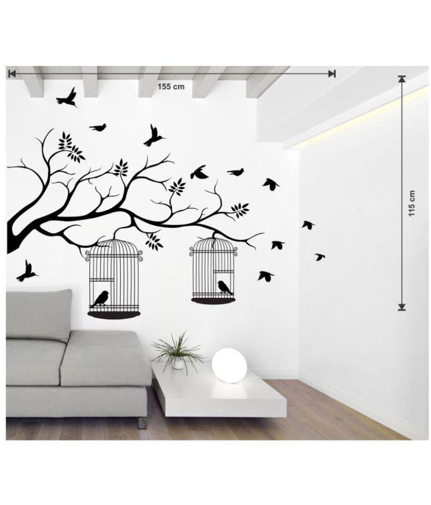 Wallstick Black Birds Vinyl Wall Stickers Buy Wallstick
