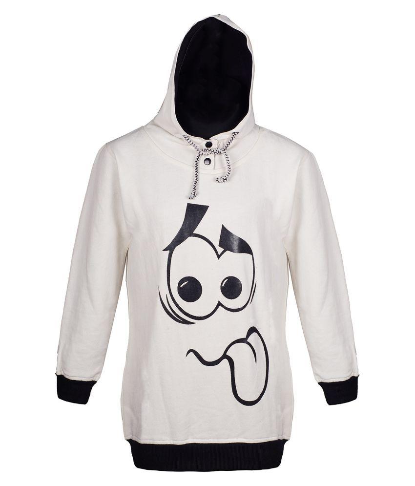 Naughty Ninos Girls White Hooded Sweatshirt