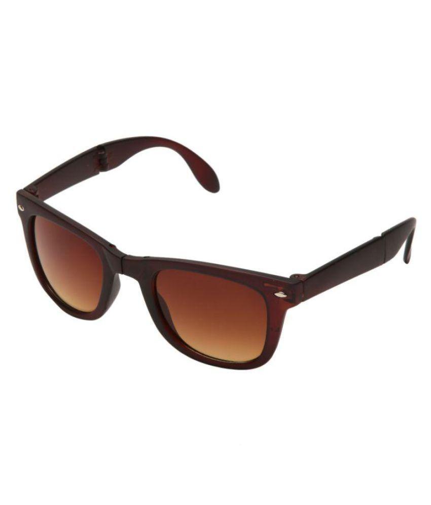 Abazy Brown Wayfarer Sunglasses ( 041 )