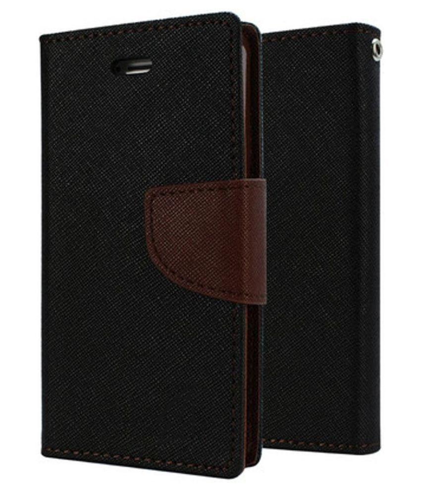 Lenovo A7000 Flip Cover by MV - Brown