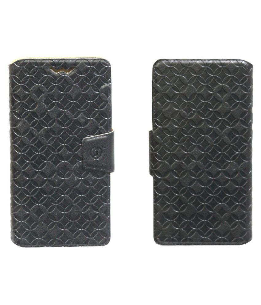 Onida i4G1 Flip Cover by Jojo - Black