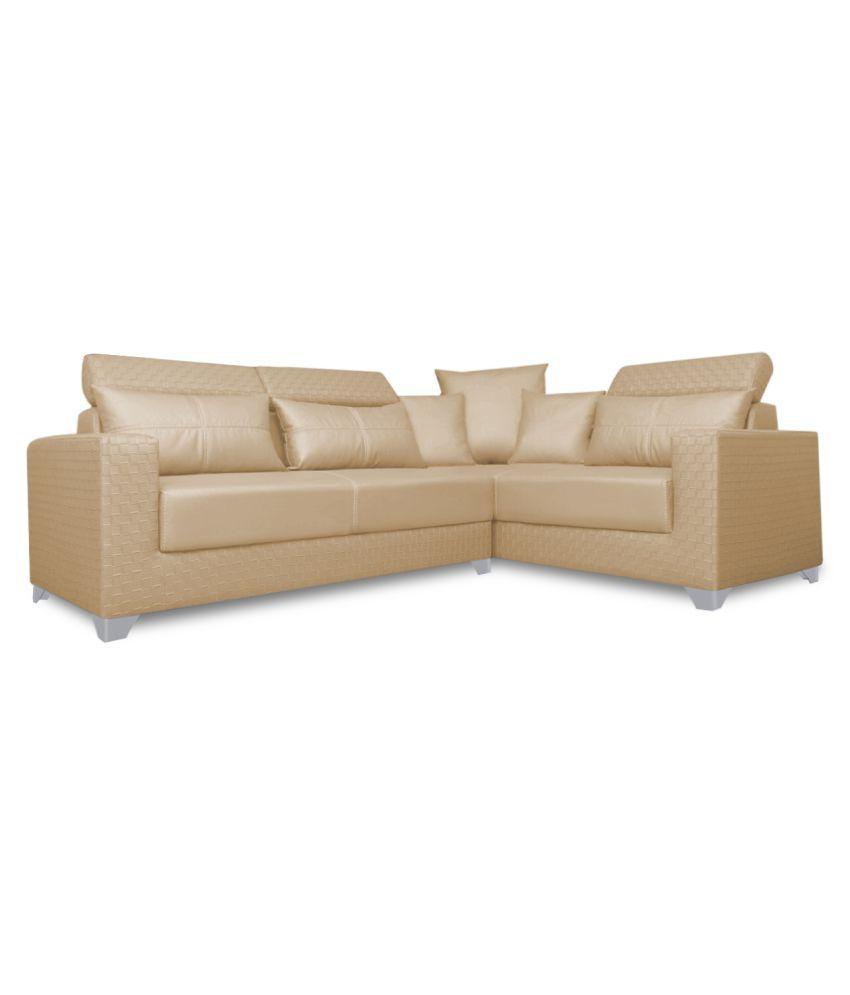 Peckham Sectional Sofa India: Adorn India Bentley Leatherette L-Shaped Sofa