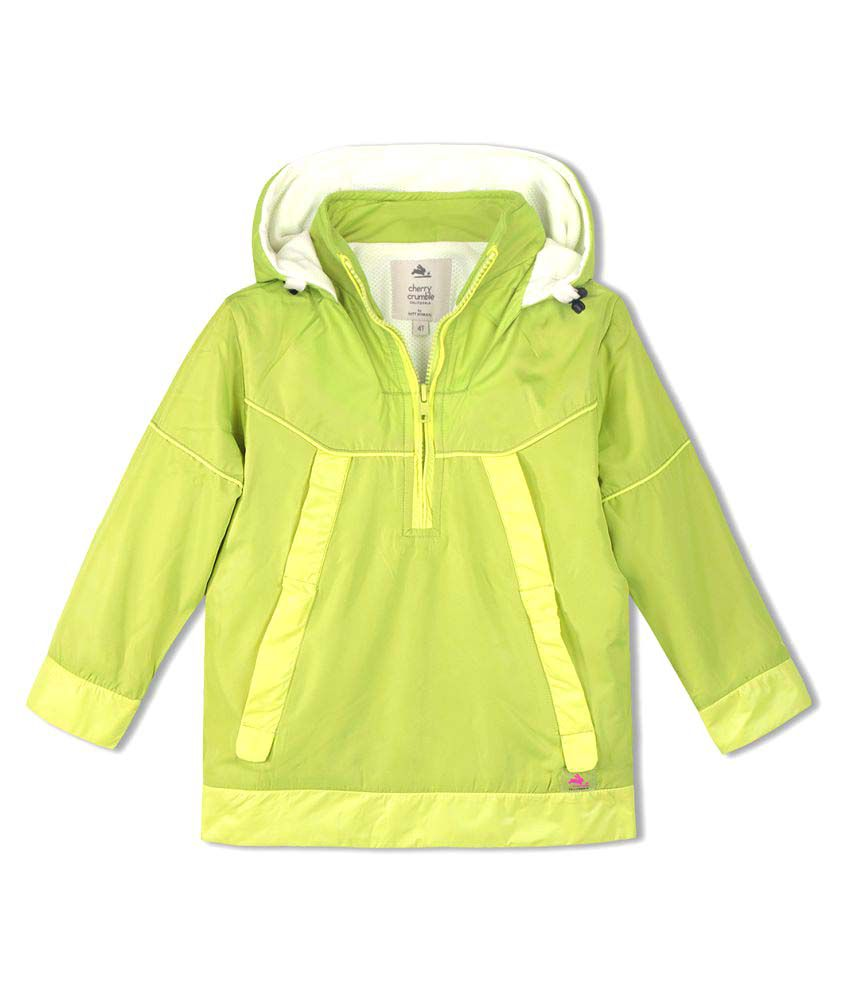 Cherry Crumble Lightweight WindBreaker with Fleece For Girl