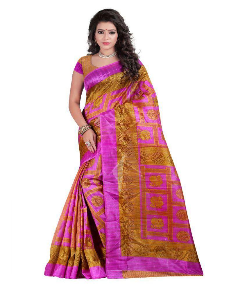 Sonakshi Sarees Multicoloured Bhagalpuri Silk Saree
