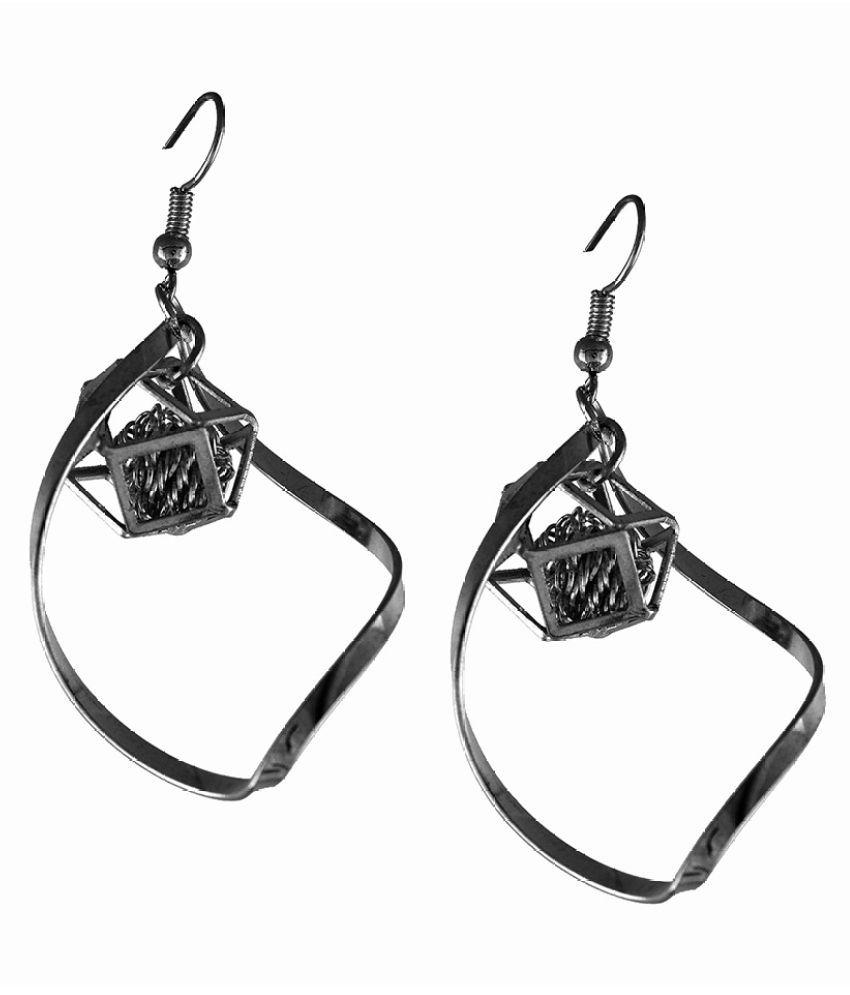 Trinetra Silver Earrings