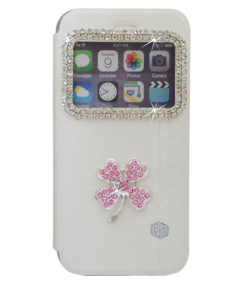Apple iPhone 5S Flip Cover by Catman - White