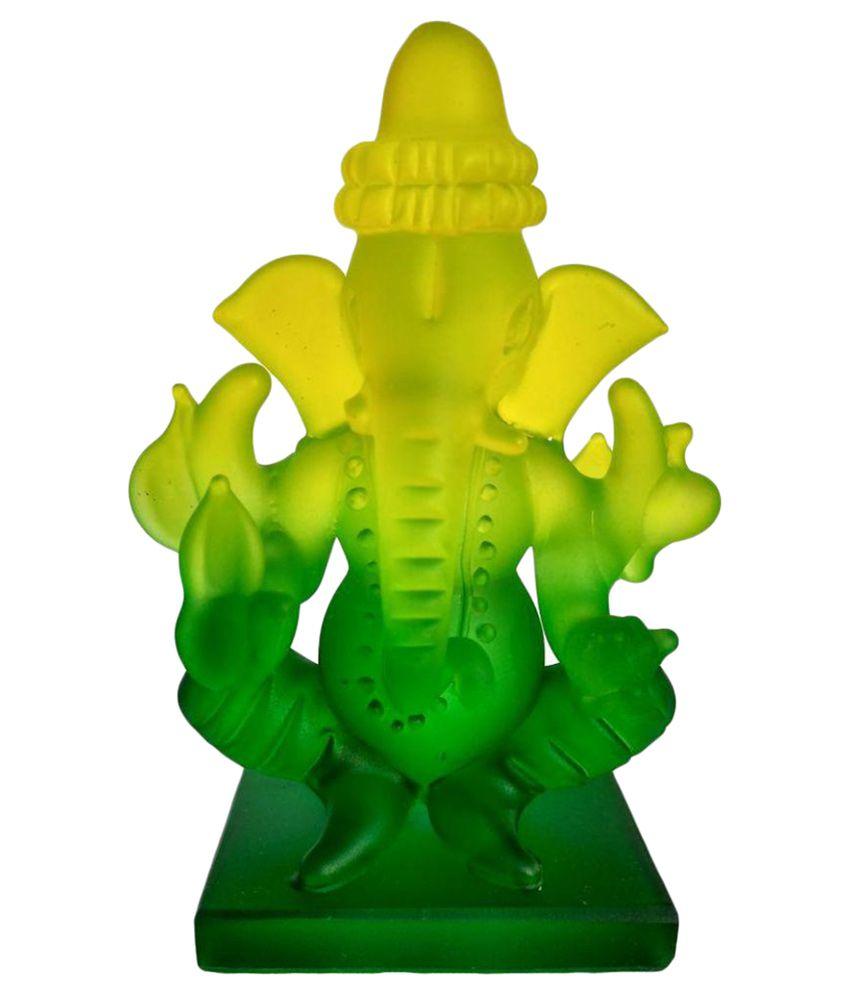 DECORATE INDIA Ganesha Glass Idol