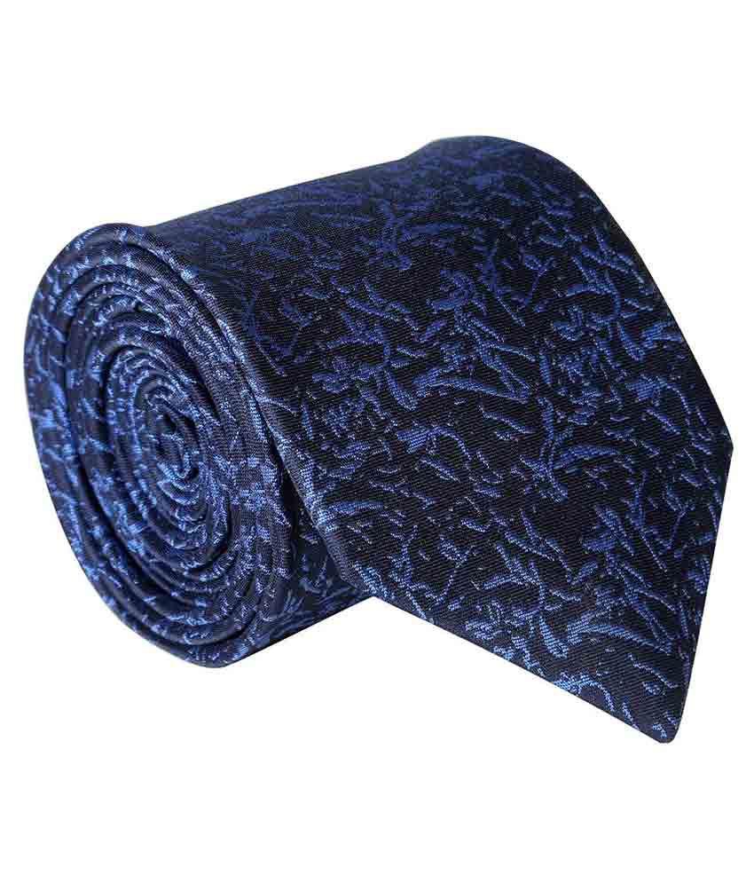 Leo Blue Formal Necktie