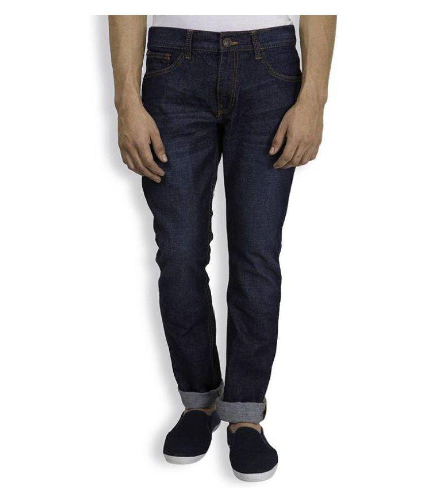 Aman Hosiery Blue Regular Fit Solid