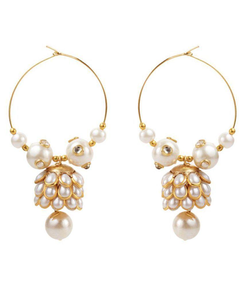 Jewels Gehna Golden Earrings