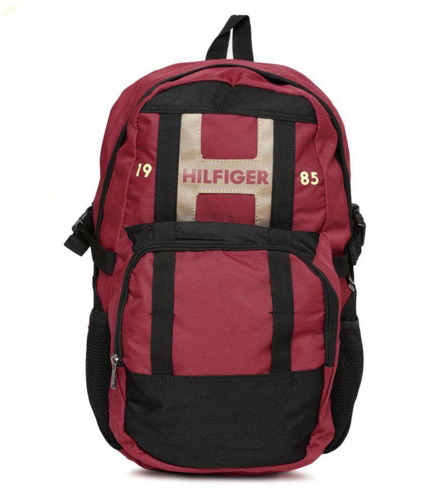 tommy hilfiger red backpack for women price in india on 26. Black Bedroom Furniture Sets. Home Design Ideas