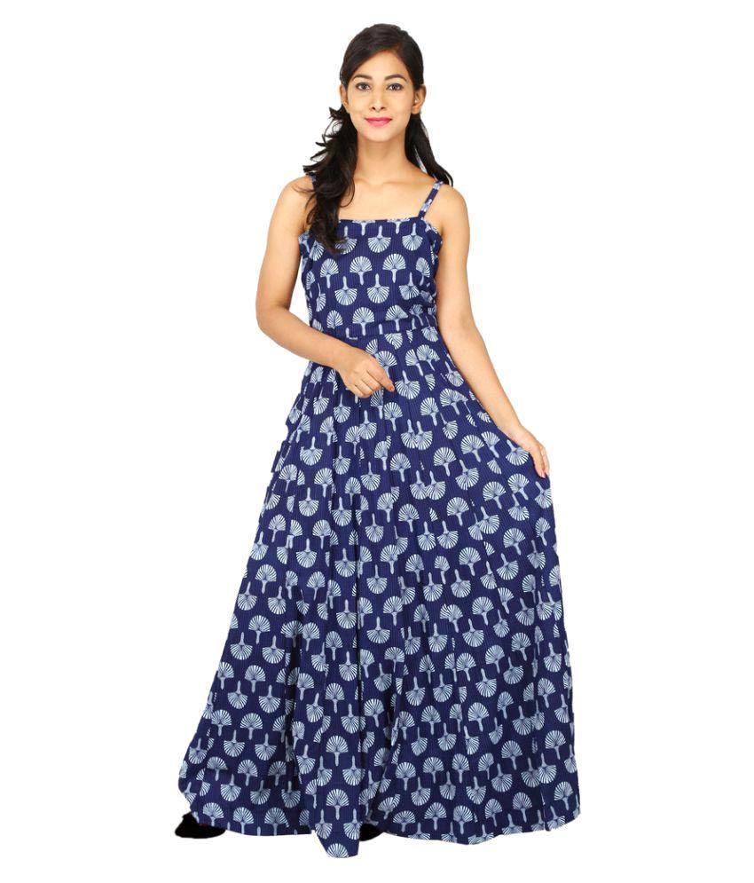 5eb16da7ae95 PEEPAL Blue Cotton Dresses - Buy PEEPAL Blue Cotton Dresses Online at Best  Prices in India on Snapdeal