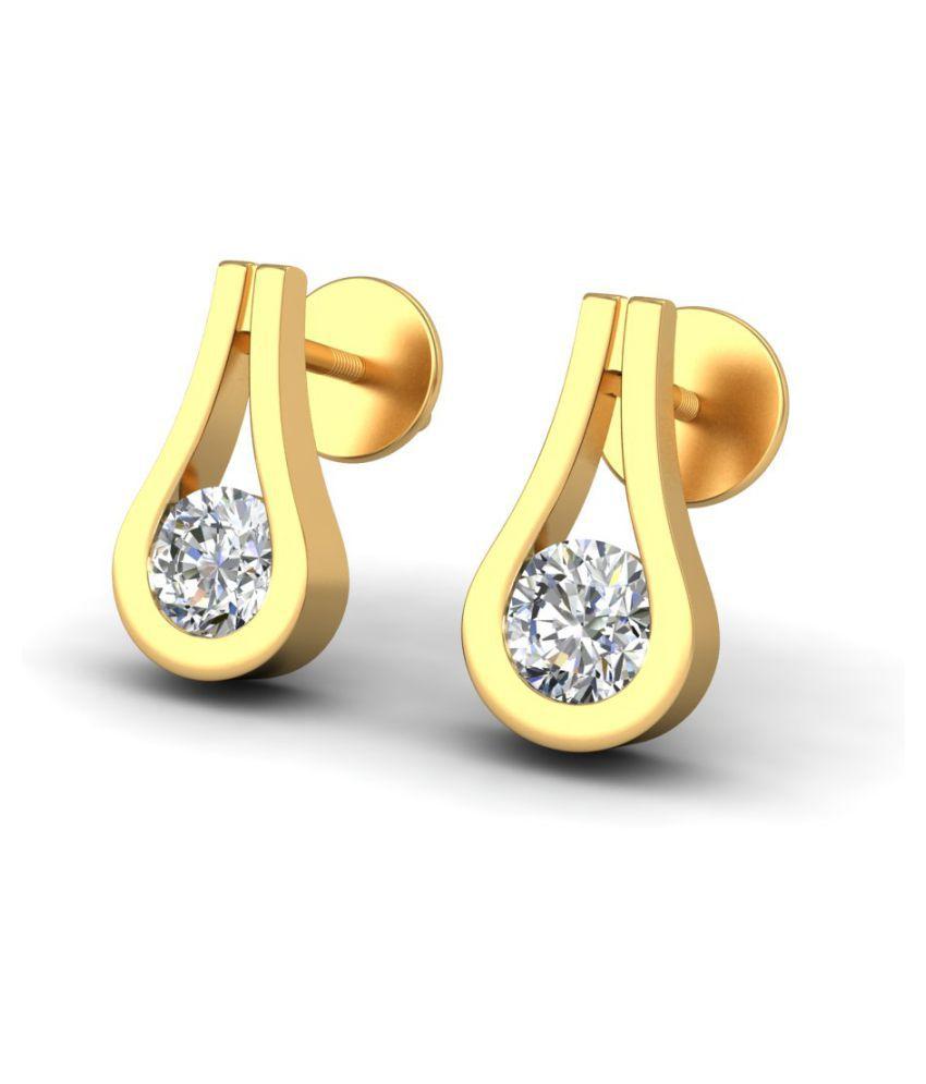 Amantran Jewels 14k BIS Hallmarked Yellow Gold None Studs