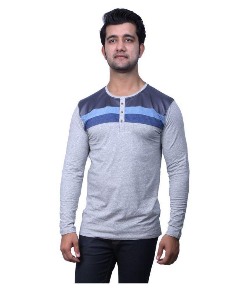 Indian Armour Grey Henley T-Shirt