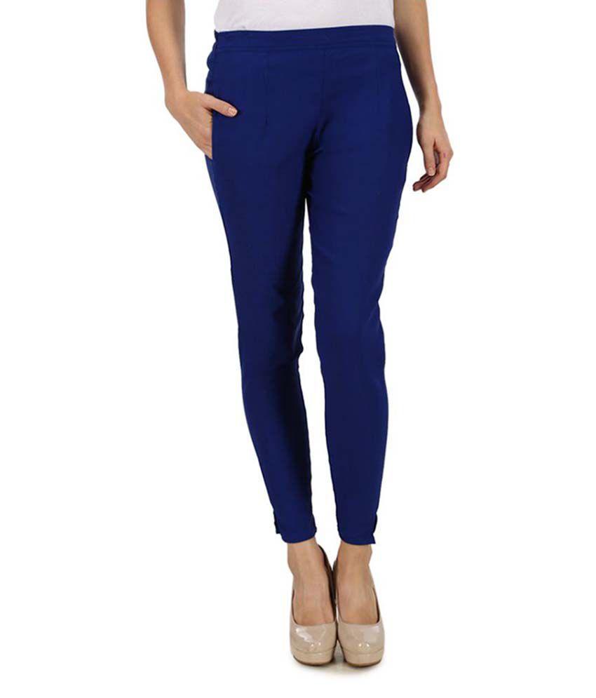 Kaaya Blue Cotton Lycra Jeggings