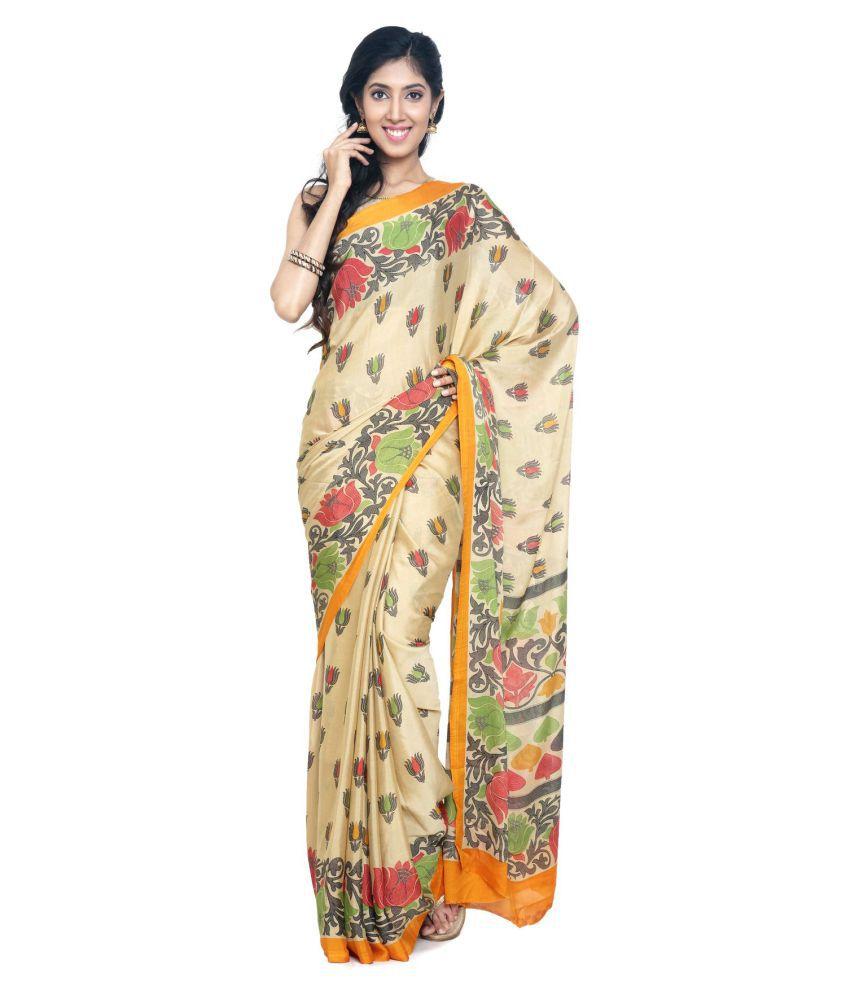 Sudarshan Silks Multicoloured Synthetic Saree