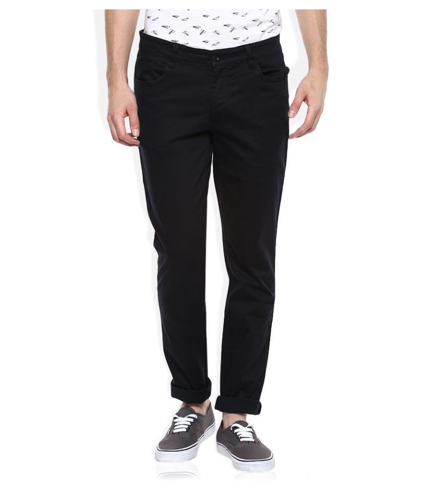John Players Black Slim Flat Trouser