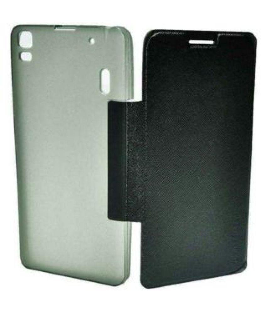 Lenovo S860 Flip Cover by BACKER THE BRAND - Black .