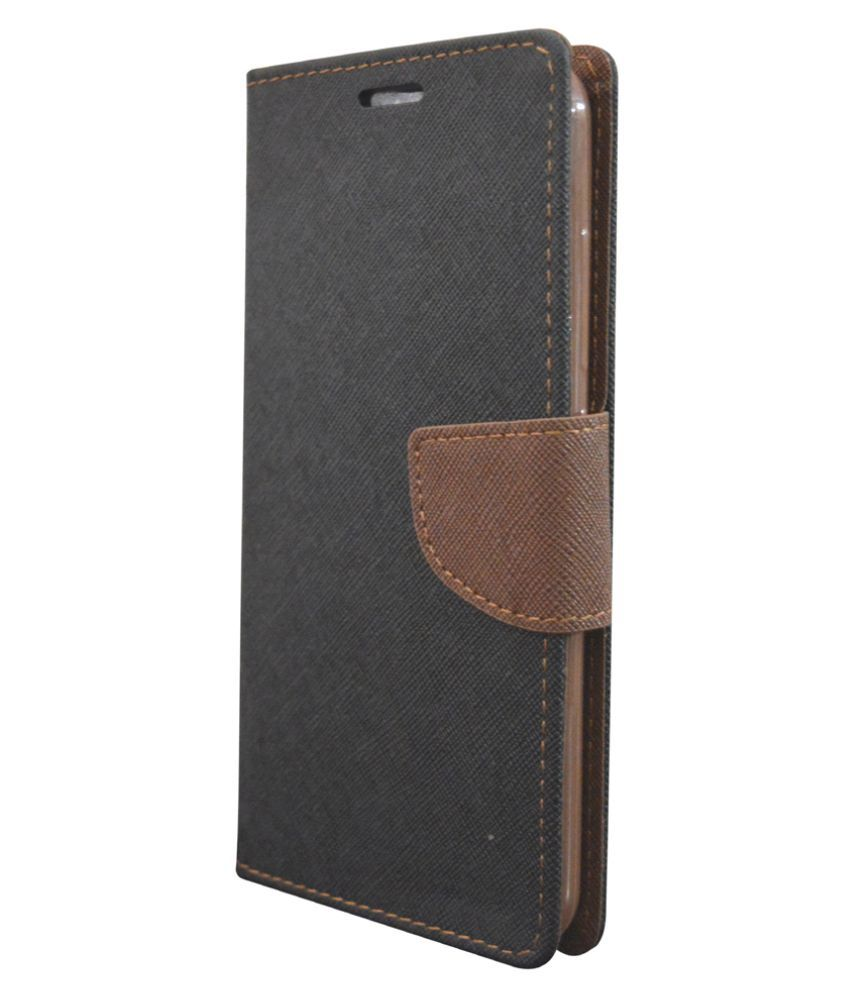 Moto G3 Flip Cover by Coverage - Black