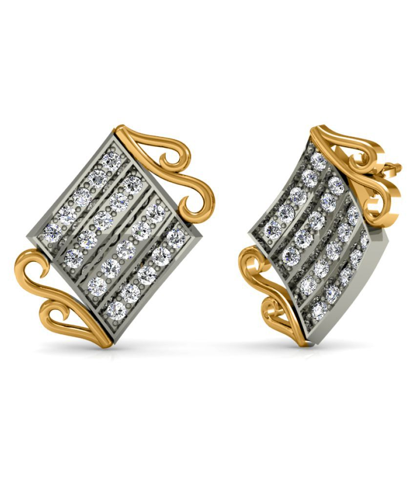 Diaonj 14k BIS Hallmarked Yellow Gold Diamond Studs