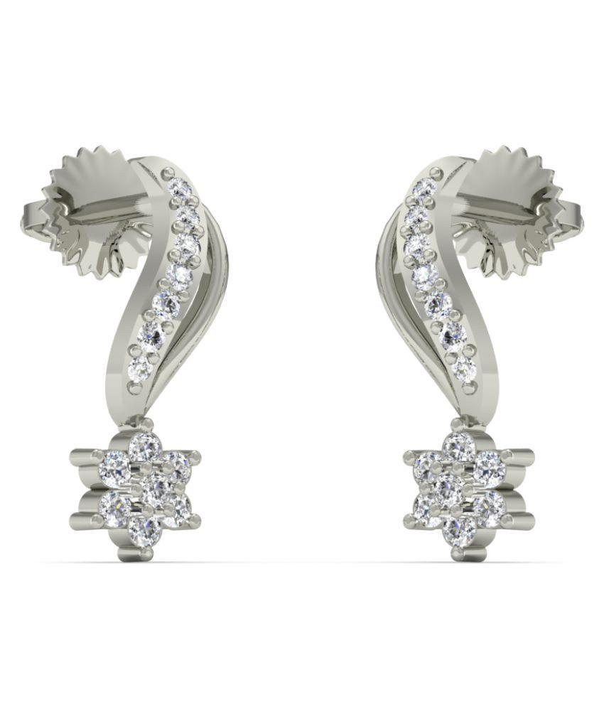 Diaonj 18k BIS Hallmarked White Gold Diamond Studs