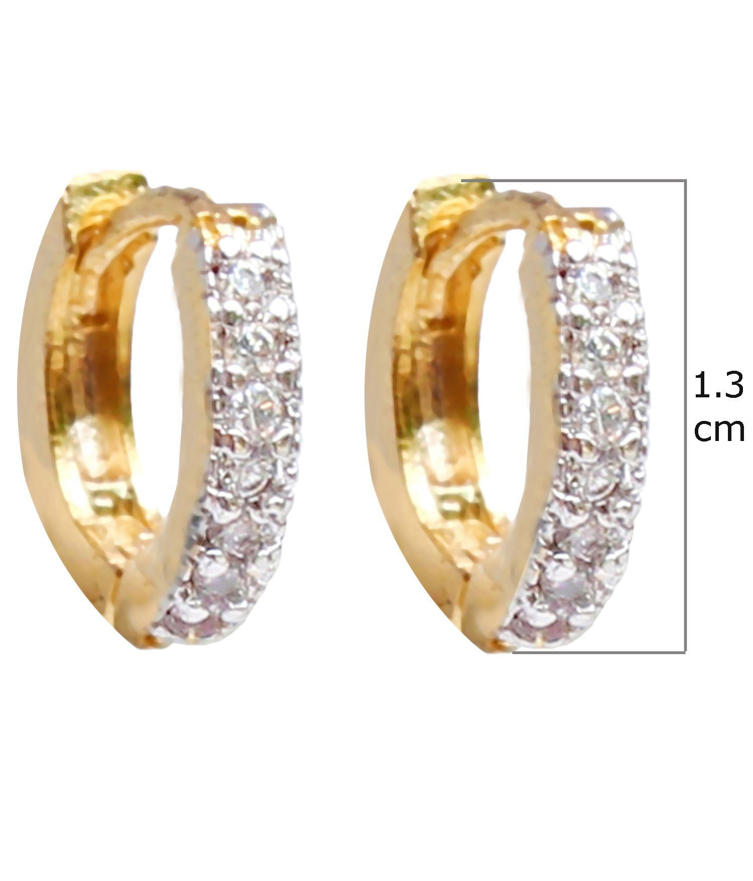 Partywear Designer American Diamond Bali & Hanging Earring Buy