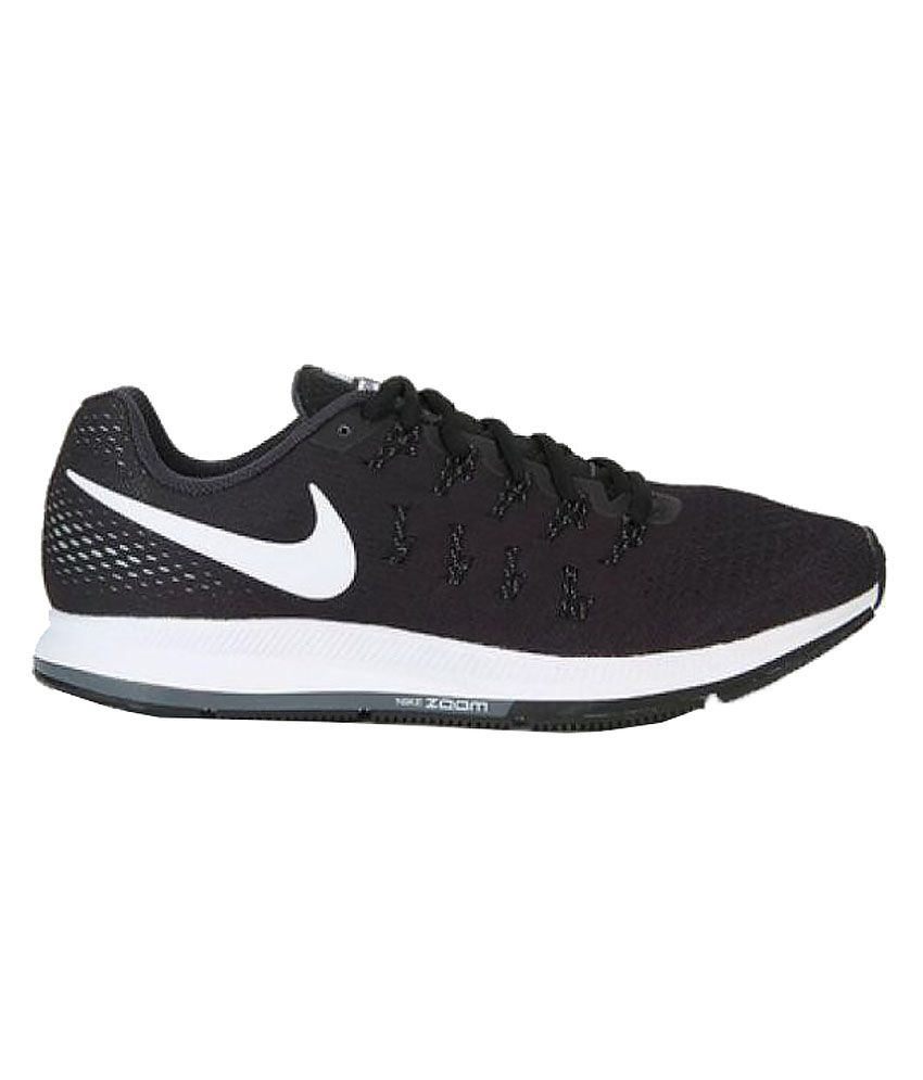 e556ae7ca4bf ... Nike Air zoom 33 pegasus Nike Air Zoom Pegasus 33 Black Training Shoes  ...